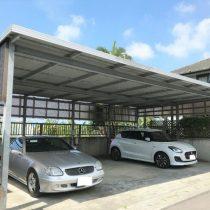 駐車場屋根設置実績:糸満市T様宅