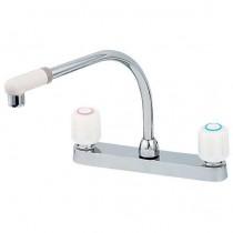 混合栓:2ハンドル混合栓(台付)151-005