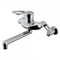 混合栓:シングルレバー混合栓(キッチン2穴台付)192-332