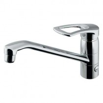混合栓:シングルレバー混合栓(キッチン1穴台付)117-064