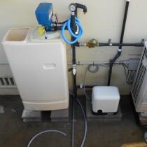 加圧ポンプ導入及び軟水機取付実績:糸満市T様宅