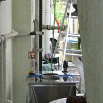 石油ボイラー及び水道配管取替え工事実績:沖縄市U様宅_(石油ボイラー取付工事)